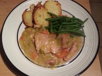 Chicken with veg in a creamy sauce