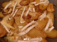 Slow-Fried Potatoes with Thyme & Brie