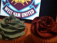 West Ham Vanilla Cupcakes