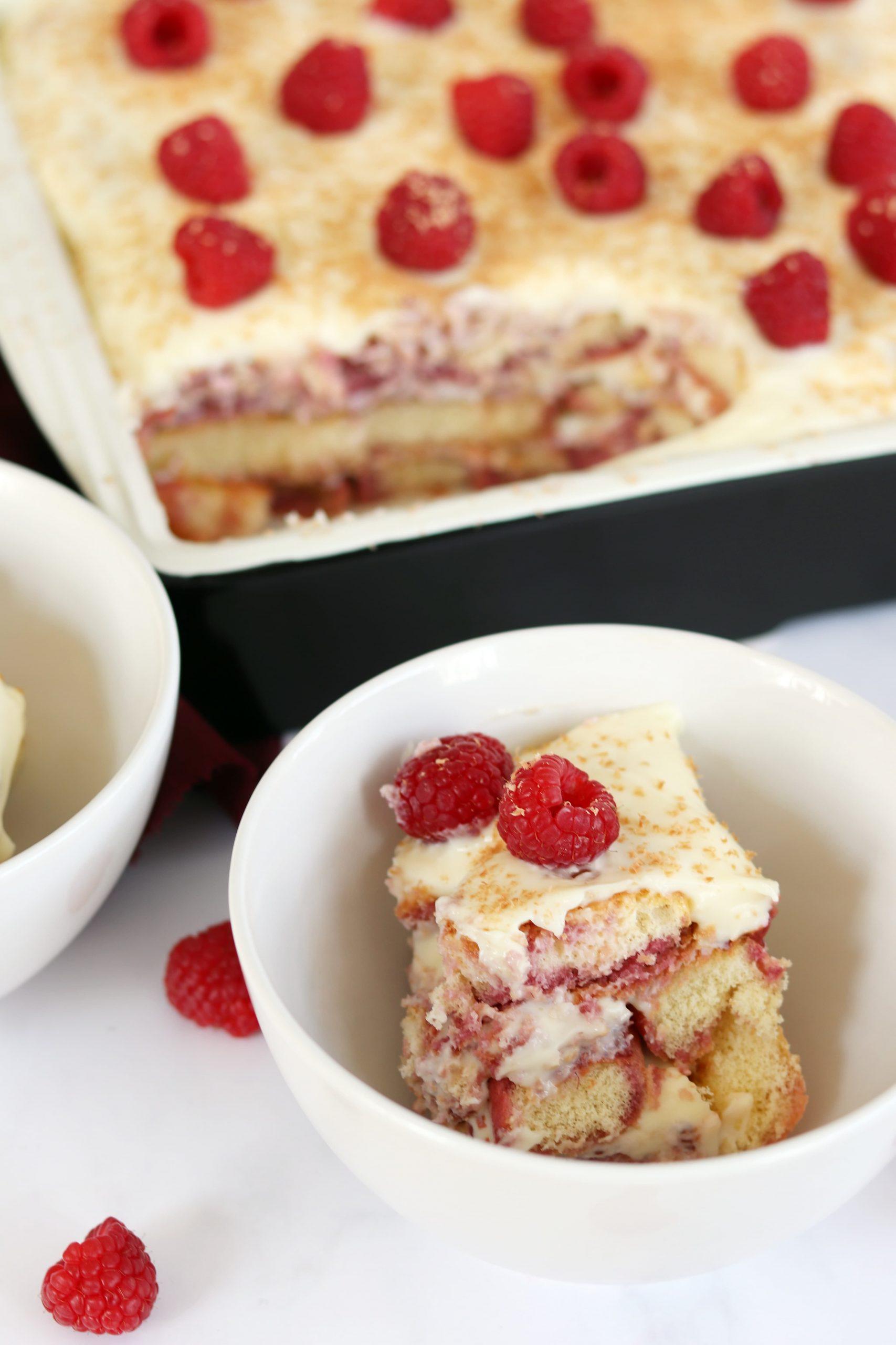 Raspberry Mascarpone Sponge Pudding Curly S Cooking