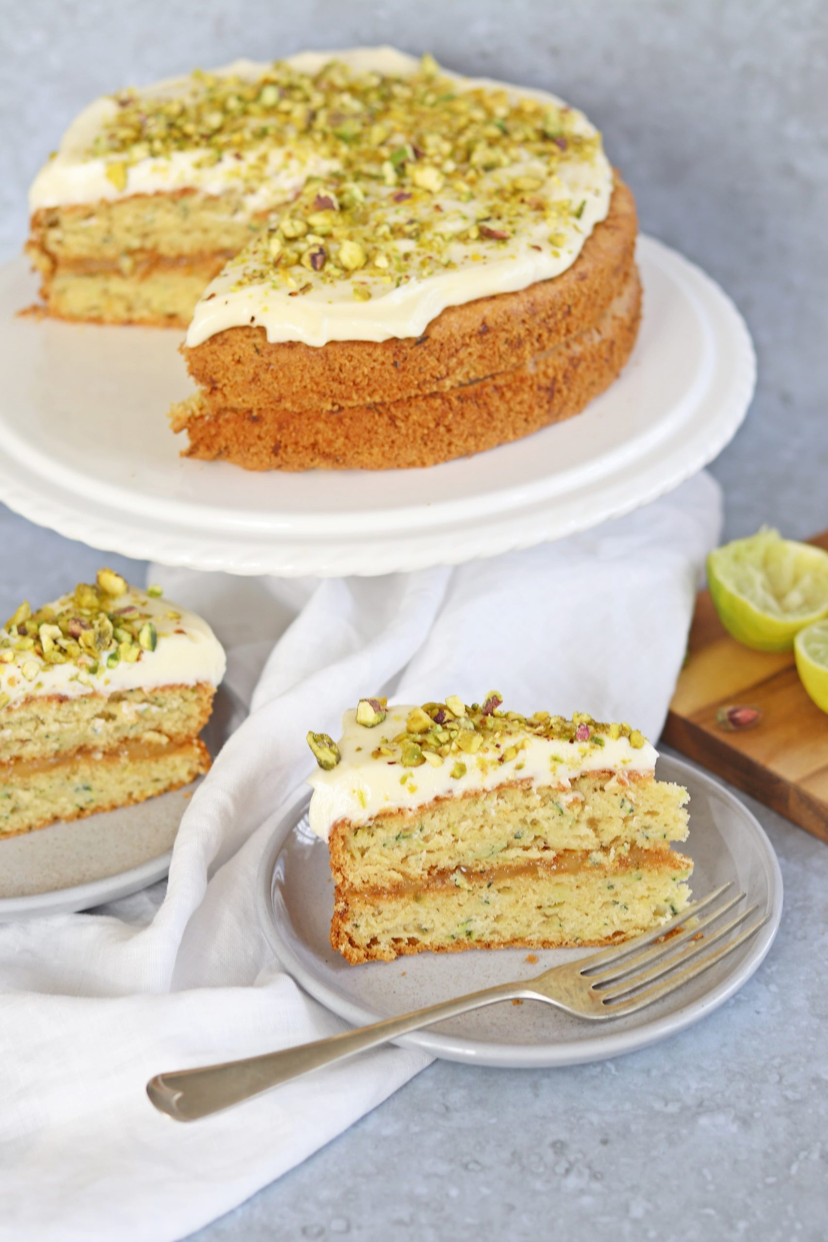 Courgette Cake with Lemon Curd & Cream Cheese Icing