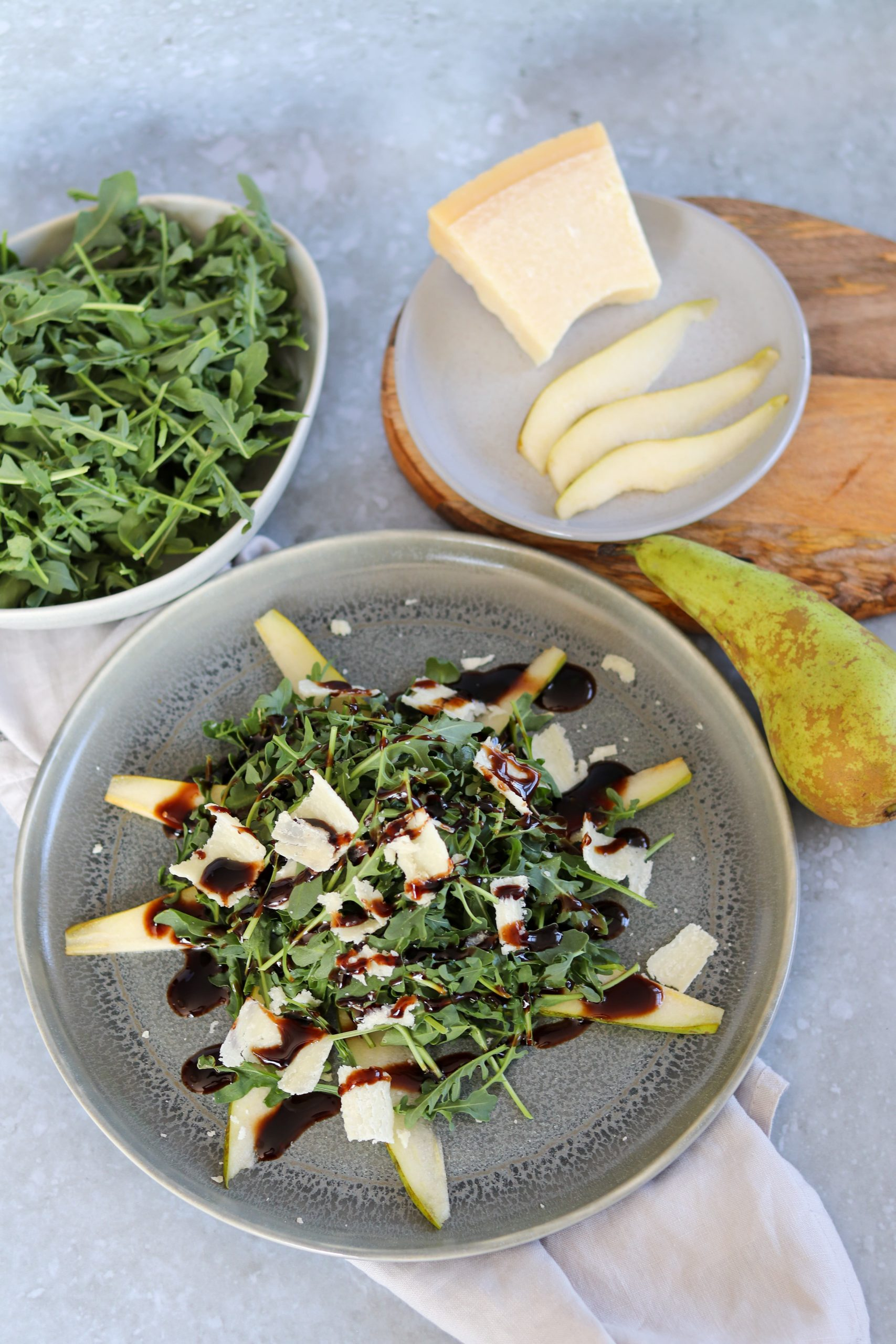 Pear & Rocket Salad - Curly's Cooking
